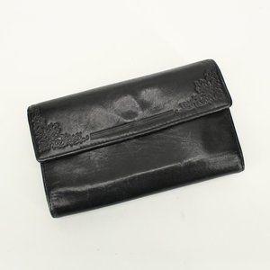 Vintage Genuine Leather Kiss Lock Wallet